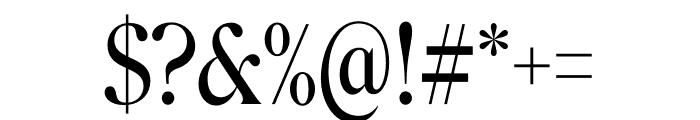 Roslindale Display Condensed Regular Font OTHER CHARS