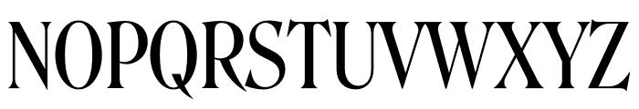 Roslindale Display Condensed Regular Font UPPERCASE