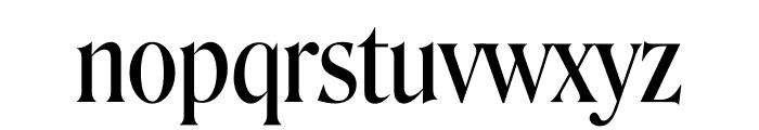 Roslindale Display Condensed Regular Font LOWERCASE