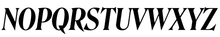 Roslindale Display Condensed Semi Bold Italic Font UPPERCASE