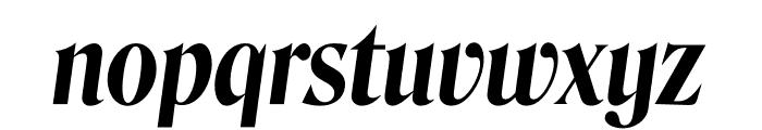 Roslindale Display Condensed Semi Bold Italic Font LOWERCASE