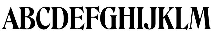 Roslindale Display Condensed Semi Bold Font UPPERCASE