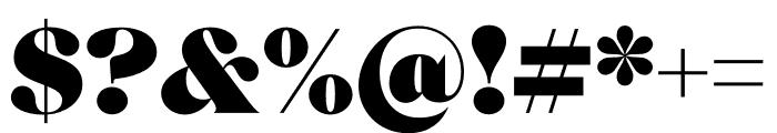 Roslindale Display Ultra Font OTHER CHARS