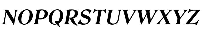 Roslindale Text Bold Italic Font UPPERCASE