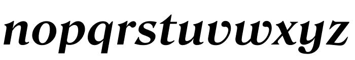 Roslindale Text Bold Italic Font LOWERCASE