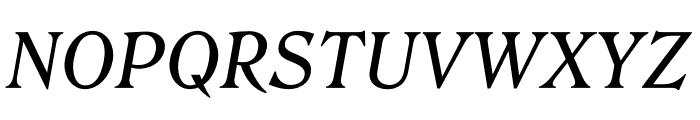 Roslindale Text Italic Font UPPERCASE