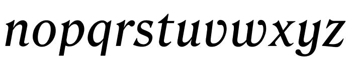 Roslindale Text Italic Font LOWERCASE
