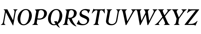 Roslindale Text Medium Italic Font UPPERCASE