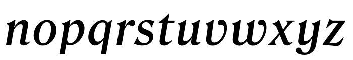 Roslindale Text Medium Italic Font LOWERCASE