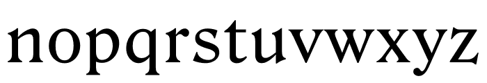 Roslindale Text Regular Font LOWERCASE
