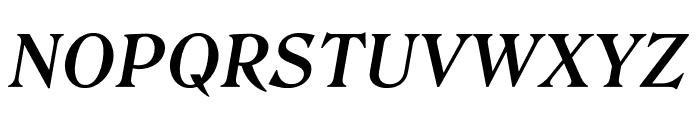Roslindale Text Semi Bold Italic Font UPPERCASE