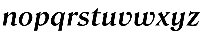 Roslindale Text Semi Bold Italic Font LOWERCASE