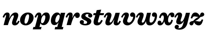 Sentinel Black Italic Font LOWERCASE