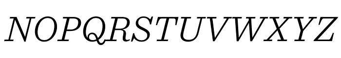 Sentinel Light Italic Font UPPERCASE