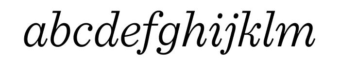 Sentinel Light Italic Font LOWERCASE