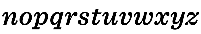 Sentinel ScreenSmart Semibold Italic Font LOWERCASE