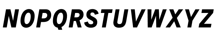 Signal Bold Italic Font UPPERCASE