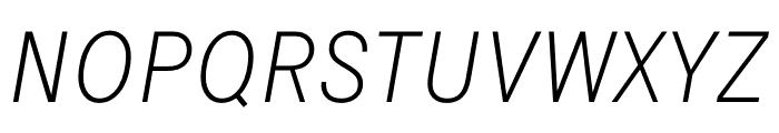 Signal Extra Light Italic Font UPPERCASE