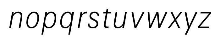 Signal Extra Light Italic Font LOWERCASE