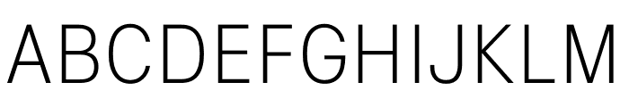 Signal Extra Light Font UPPERCASE