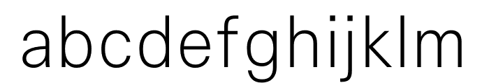 Signal Extra Light Font LOWERCASE