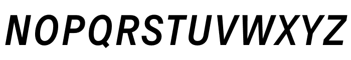 Signal Italic Font UPPERCASE