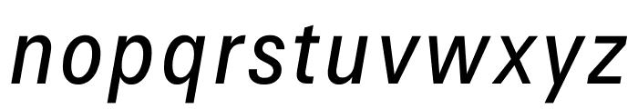Signal Light Italic Font LOWERCASE