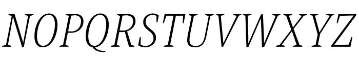 Singel Light Italic Font UPPERCASE