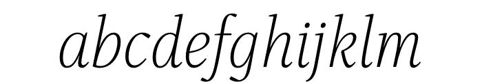 Singel Light Italic Font LOWERCASE
