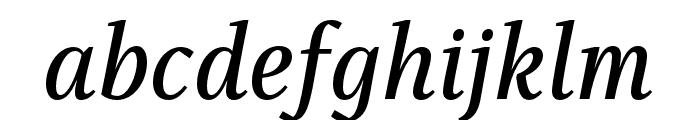 Singel Semi Bold Italic Font LOWERCASE