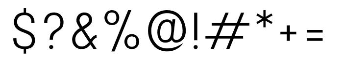 Stellar Sans Light Font OTHER CHARS