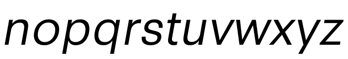 Synthese Book Oblique Font LOWERCASE
