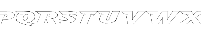 TFAvian Sketch Font UPPERCASE