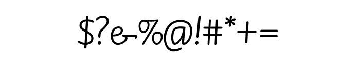 TFBarchowsky Fluent Hand Font OTHER CHARS