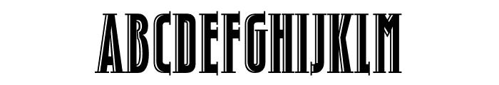 TFHotelmoderne Serif Heavy Shaded Font UPPERCASE