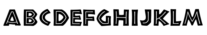 TFNeueNeuland Inline Solid Font UPPERCASE