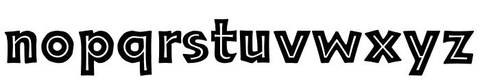 TFNeueNeuland Inline Solid Font LOWERCASE