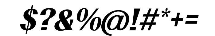 TFRenoir Black Italic Font OTHER CHARS