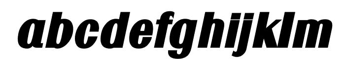 TFRenoir Extra Heavy Italic Font LOWERCASE