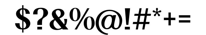 TFRenoir Extrabold Font OTHER CHARS