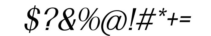 TFRenoir Medium Italic Font OTHER CHARS