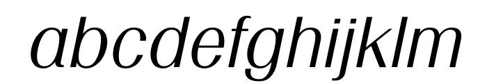 TFRenoir Medium Italic Font LOWERCASE