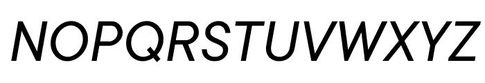 TT Commons Variable Italic Font UPPERCASE
