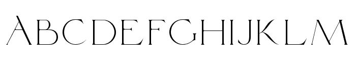 Traviata Regular Font UPPERCASE