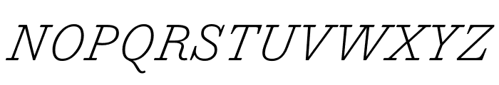 Trianon Caption ExtraLight Italic Font UPPERCASE