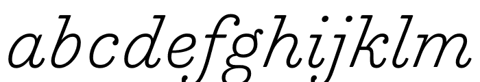 Trianon Caption ExtraLight Italic Font LOWERCASE