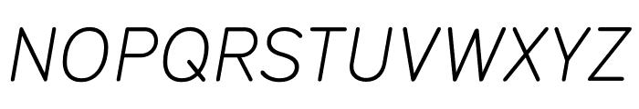 Typ 1451 Light Italic Font UPPERCASE