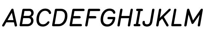 Typ 1451 Medium Italic Font UPPERCASE