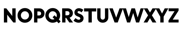 U8 Black Font UPPERCASE
