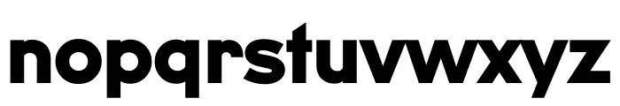 U8 Black Font LOWERCASE